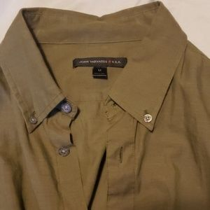 John varvatos green button up